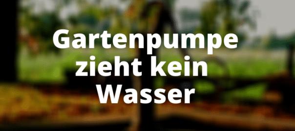 Gartenpumpe zieht kein Wasser