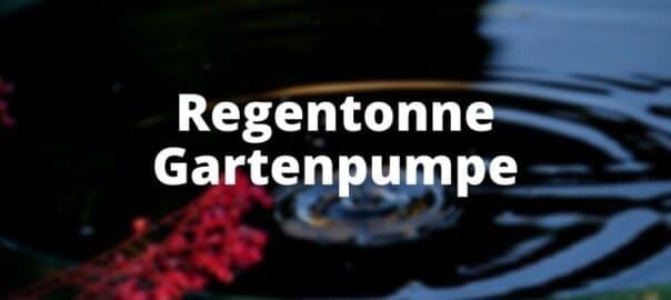 Regentonne Gartenpumpe